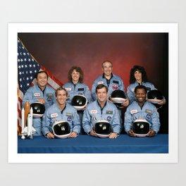 Space Shuttle Challenger Crew, November 1985 Art Print