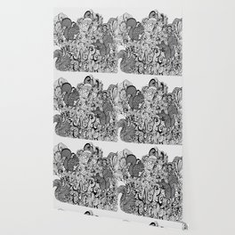 Squirrels Zentangle Drawing White Wallpaper