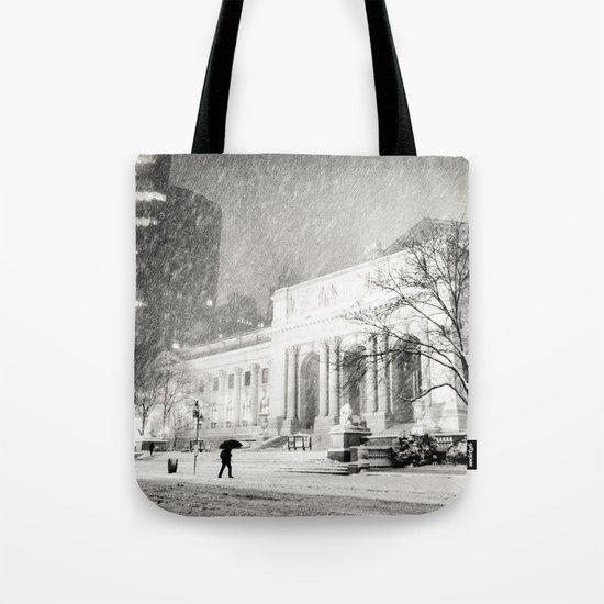 New York City Snow - 5th Avenue Tote Bag