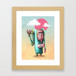Décroche la bouche... Framed Art Print