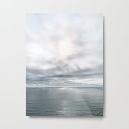 The Sea, Photograph of the Pacific Ocean Coast Metal Print