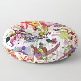 multicolore abstract fuchsia Floor Pillow