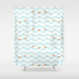 Golf Fish Shower Curtain