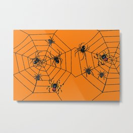 big Spiders in two cobweb Metal Print