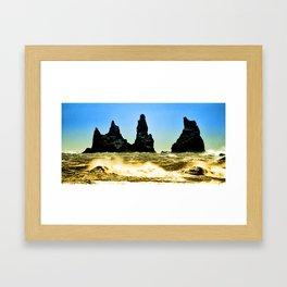 Iceland_Breakers Framed Art Print