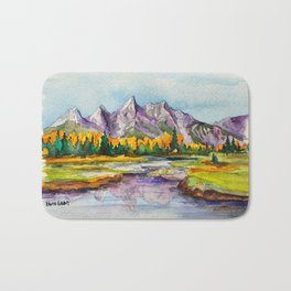 Grand Teton National Park Bath Mat