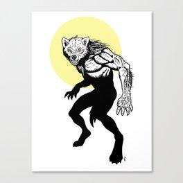 Loup-garou Homme Canvas Print