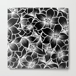 black orchid flowers Metal Print