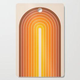 Gradient Arch - Vintage Orange Cutting Board
