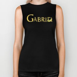 Gabriel with Feather Biker Tank