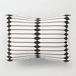 Minimal Geometric Pattern - Black and White Pillow Sham