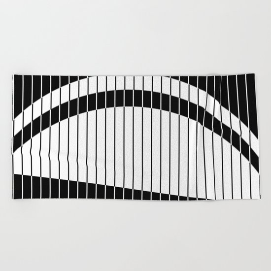 Colour Blind (Abstract, minimalistic black and white) Beach Towel