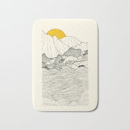 The land and the sea Bath Mat