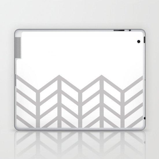 GRAY & WHITE LACE CHEVRON Laptop & iPad Skin