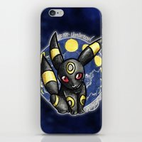 umbreon iPhone & iPod Skins featuring 197 - Umbreon by Lyxy