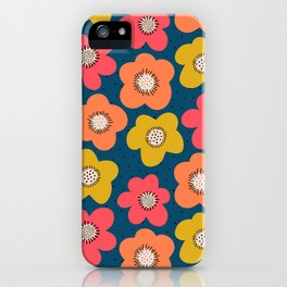 Large Scandinavian Florals iPhone Case