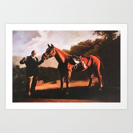 Tony Soprano and Pie-O-My Horse Poster The Sopranos Race Art Print