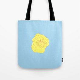 a yellow rose Tote Bag