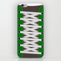 sneaker iPhone & iPod Skins featuring Sneaker by Bärdie D/Sign