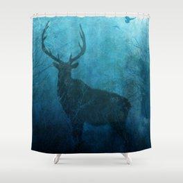 Spirit Elk Silhouette Shower Curtain