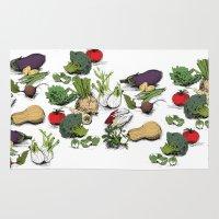 vegetable Area & Throw Rugs featuring VEGETABLE GARDEN by sandra suchocka e silva