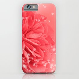 A Touch of Love - Pink Rose with Hearts #1 #art #society6 iPhone Case