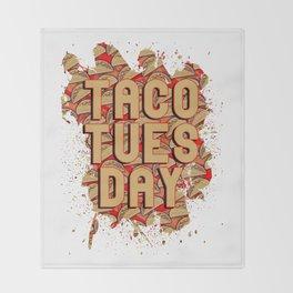 Taco Tuesday Throw Blanket