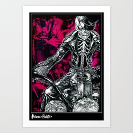 Skull rider Art Print