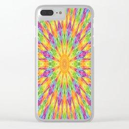 Rainbow Mandala Clear iPhone Case