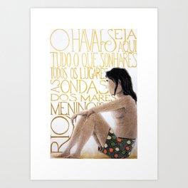 Rio - Menino do Rio Art Print