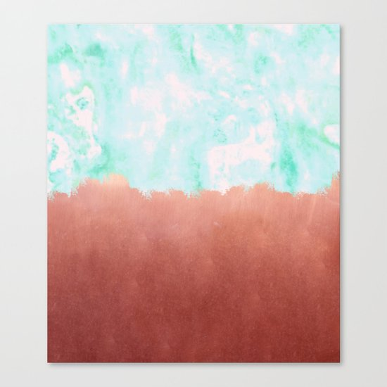 Sea Green + Copper #society6 #decor #buyart Canvas Print