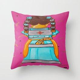 Little India  Throw Pillow