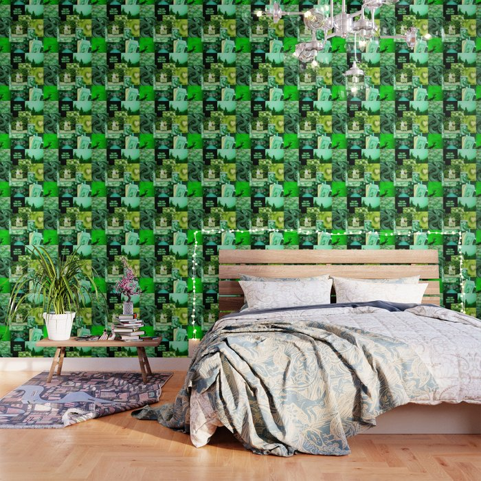 Green Love Aesthetic Collage Wallpaper By Ethannguyen2020 Society6