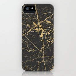 Marble Black Gold - Young Forever iPhone Case