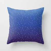 constellations Throw Pillows featuring Constellations by KimbuPamu
