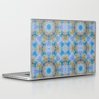 finland Laptop & iPad Skins featuring Finland Kaleidoscope by Lu Haddad