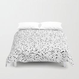 Speckles I: Double Black on White Duvet Cover