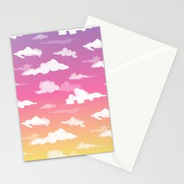 Sunset Ombré Sky and Clouds Print Stationery Cards