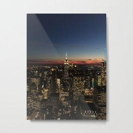 New York Dusk Metal Print