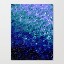 Deep Blue Ocean Mosaic Tile Canvas Print