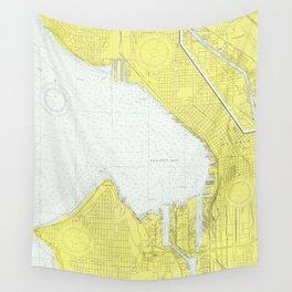 Map of Seattle WA (1976) Wall Tapestry