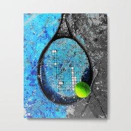 Tennis art print work 22 - tennis artwork poster print Metal Print