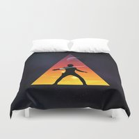 jedi Duvet Covers featuring Jedi Space Triangle by Raisya