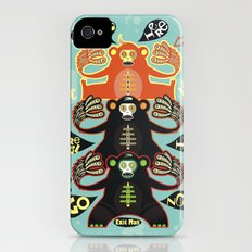 Traffic light monkey iPhone (4, 4s) Slim Case