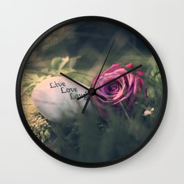 Live, Love, Laugh Wall Clock