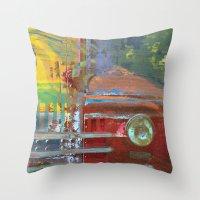 car Throw Pillows featuring Car by Fernando Vieira