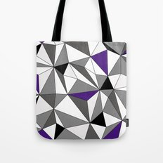 Geo - gray, black, purple and white Tote Bag