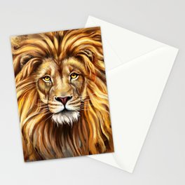 Artistic Lion Face Stationery Cards