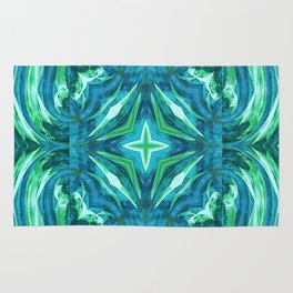 Tropical Leaf Fashion Design Rug