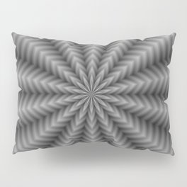 Floral Rays in Black and White Pillow Sham